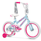 "Huffy 16"" Sea Star Girls' Bike, Light Blue & Pink, Quick & Easy to Assemble NEW"