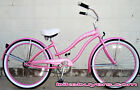 "Steel Frame, Micargi Rover GX 26"" 1-speed Beach Cruiser Bike Bicycle WOMEN pnk"