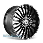 "20"" Velocity VW11 Black Wheel & Tire Package Fits Infinity Ford Honda Mercury"