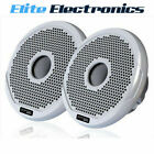 """FUSION MS-FR7021 MARINE 7"""" 2-WAY 260W SPEAKERS BOAT AUDIO WHITE & BLACK GRILLES"""