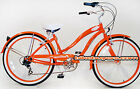Steel Frame! Micargi Rover 7-SPEED Beach Cruiser Bike Women Shimano Tourney org
