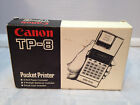 Vintage Canon TP-8 Pocket Calculator - w/ box instructions and spare paper