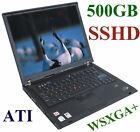 """IBM ThinkPad T60p 500GB-SSHD*15.4"""" ATI FireGL 1680x1050  Intel-2GHz FP Bluetooth"""