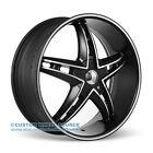 """20"""" Velocity VW930 Black  Wheel Tire Package for  Chrysler Dodge Ford Honda Kia"""