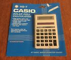 Vintage Casio HS-7 Solar Powered Calculator New In Sealed Package