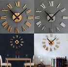 New Hot Large Modern Style Luxury DIY 3D Wall Clock Home Decor Mirrors Face Art