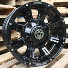 18x9 Gloss Black Anthem Defender 5x150 & 5x5.5 -12 Wheels Xtreme MT2 37 Tires