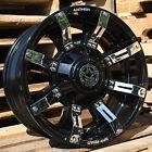 18x9 Gloss Black Defender A711 8x170 -12 Rims Xtreme MT2 LT295/65R18 Tires