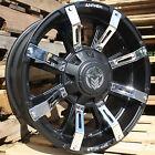 20x9 Matte Black Anthem Defender A712 6x135 & 6x5.5 -12 Rims LT35X12.50R20 Tires