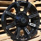 20x9 Gloss Black Anthem Defender 8x180 +18 Rims Xtreme MT2 35 Tires