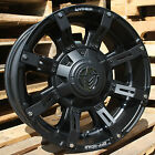 18x9 Matte Black Anthem Defender A712 5x150 & 5x5.5 +18 Wheels 295/65/18 Tires