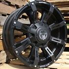 20x9 Matte Black Anthem Defender 5x5 & 5x5.5 -12 Rims Xtreme MT2 Tires