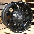 17x9 Matte Black Anthem Defender A712 5x5 & 5x5.5 -12 Wheels 40X13.5X17 Tires