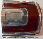 1968 Plymouth Roadrunner & Satelite (R-H Passenger side) Tail Light Assembly
