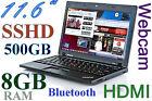 "Light 11.6"" ThinkPad X120e Dual /500GB SSHD/ 8GB-RAM/ HDMI ATI (1366x768) Webcam"