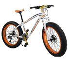"""26"""" Fat Tire Mountain Bike Mens Beach Cruiser Bicycle Shimano 27 Gears Oil Brak"""