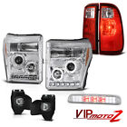 11-16 F250 6.2L Roof Cab Lamp Foglights Rear Brake Lights Headlamps Replacement