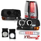 2003 Sierra WT Halo LED Headlamps Black Parking SMD Rear Tail Lamp Fog Roof Stop