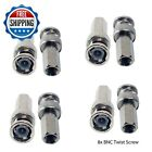 8x BNC Twist Screw On Plug Male Connector for CCTV Security RG59 Coaxal Cable