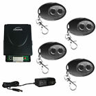 Visionis FPC-5370 4 Wireless Remote with Two Channel RF Receiver and Adapter