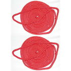 2 Pack of 1/2 Inch x 25 Ft Red Double Braid Nylon Mooring and Docking Lines
