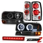 2000-2006 Yukon 4.8L CCFL Projector Headlight Signal Taillamps High Stop LED Red