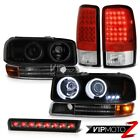 00-06 Yukon 5.3L Angel Eye Halo Headlights Signal LED Tail Light Roof Brake Tint
