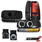 03-06 Sierra SLT Foglamps parking brake lights raven black light ccfl Headlamps