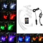 12V Car RGB LED Strip Light Wireless Music Sound Sensor IR Remote Controller  DH