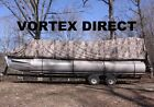 NEW CAMO VORTEX 16  FT ULTRA 5 YEAR CANVAS COVER FOR PONTOON/DECK BOAT