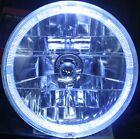 "7"" H4 Halo Halogen Headlights Pair With Turn Signal 360Degree Hot Rod Street Rod"