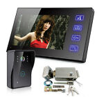 """7""""LCD Video Door Phone Intercom Doorbell Home Security IR Camera Electronic Lock"""