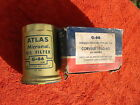 2 ATLAS CORVAIR OIL FILTERS part G-66 !960-65, maybe to 1969 Very Good Condition