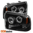 05-07 F250/F350/F450/F550 Excursion Black Smoked Projector Headlights Left+Right