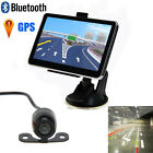 "5"" Car Rearview Mirror Truck GPS Navigation Bluetooth AV +Packing Backup Camera"