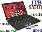 "TOSHIBA Tecra R940 14"" i5-3340M 2.7GHz (FAST 1TB SSHD 16GB) USB 3.0 BT FP"