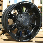 18x9 Matte Black Anthem Defender A712 5x150 & 5x5.5 +18 Rims P265/65R18 Tires