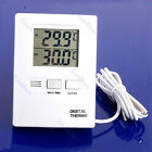 Digital LCD Indoor And Outdoor Thermometer Temperature Meter White M