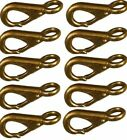 NEW BRONZE FAST EYE BOAT SNAP SIZE # 1 PACK OF 10 Quick Link Heavy Duty