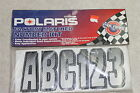 Polaris Number Kit 2873694 Black/White/Gray Factory Matched UV Coated