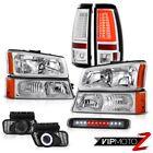 2003-2006 Silverado 3500Hd Tail Lights High Stop Light Bumper Lamp Headlamps Fog