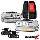 1999-2002 Silverado 4WD Tail Lights Signal Light Headlights Fog LED 2X CCFL Halo