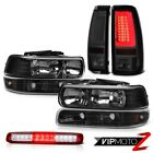 99-02 Silverado WT Tail Lamps High Stop Light Bumper Headlights Factory Style
