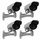 4 Dummy Solar Security Camera Fake Flashing Light Infrared LED CCTV Surveillance