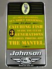"Johnson Outboard Motor Sign Pre-Bankruptcy Vintage ""Its About Reliability...""  B"