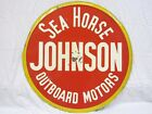 "Johnson Sea Horse Outboard Motors Dealer Sign 35"" est circa World War II"