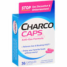 Charco Caps Anti-Gas Formula Activated Charcoal Capsules, 260mg, 36 count
