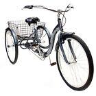 """26"""" Schwinn Meridian Adult Tricycle, Silver"""