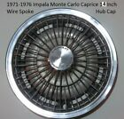 1971-1976 Chevy Impala Caprice Monte Carlo Wire Spoke Stainless Steel Hub Cap