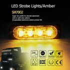 2W Amber 4 Leds Flash Emergency Hazard Warning Strobe Lights Bar for Car Truck